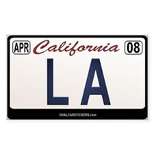 California License Plate Sticker - LA