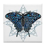 December Birthstone Butterfly  Tile Coaster