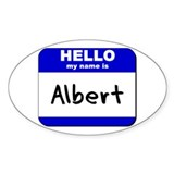 hello my name is albert Oval Decal