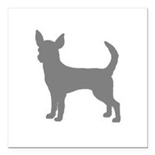"chihuahua gray 1C Square Car Magnet 3"" x 3"""