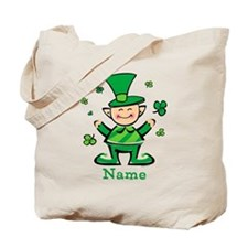 Personalized Wee Leprechaun Tote Bag