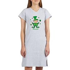 Personalized Wee Leprechaun Women's Nightshirt