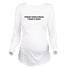 worldpeaceblack.png Long Sleeve Maternity T-Shirt