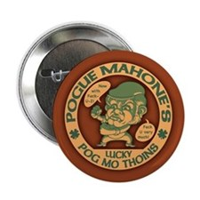 "Pogue's Lucky Thoins 2.25"" Button"