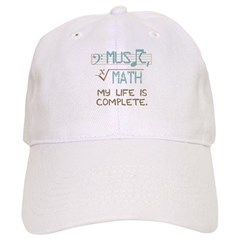 Math and Music Baseball Cap