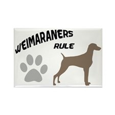 Weimaraners Rule Rectangle Magnet