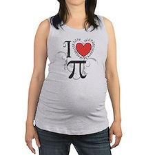 I heart Pi Maternity Tank Top