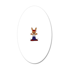 Hip Hop Rabbit 20x12 Oval Wall Decal