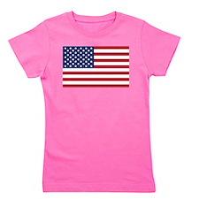 American Flag Girl's Tee