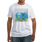 Fishbowl Hard Hat Diver Fitted T-Shirt