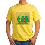 Fishbowl Hard Hat Diver Yellow T-Shirt