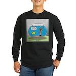 Fishbowl Hard Hat Diver Long Sleeve Dark T-Shirt