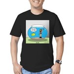 Fishbowl Hard Hat Dive Men's Fitted T-Shirt (dark)