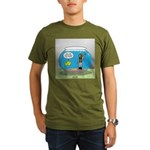 Fishbowl Hard Hat Div Organic Men's T-Shirt (dark)