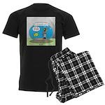 Fishbowl Hard Hat Diver Men's Dark Pajamas