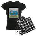Fishbowl Hard Hat Diver Women's Dark Pajamas