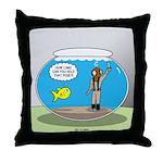 Fishbowl Hard Hat Diver Throw Pillow