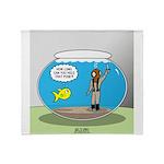 Fishbowl Hard Hat Diver Throw Blanket