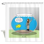 Fishbowl Hard Hat Diver Shower Curtain