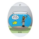 Fishbowl Hard Hat Diver Ornament (Oval)
