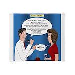 Dentist Dating Throw Blanket