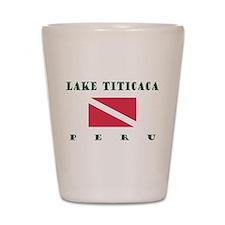Lake Titicaca Peru Dive Shot Glass