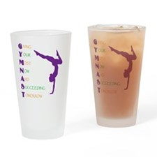 Gymnast Success Drinking Glass