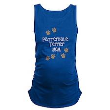 Patterdale Terrier Mom white Maternity Tank Top