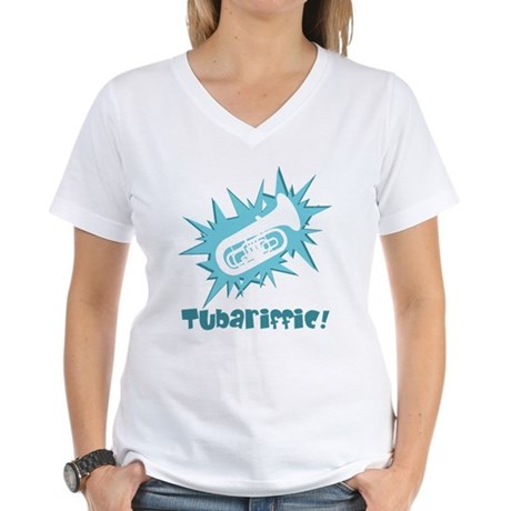 Tubariffic Women's V-Neck T-Shirt
