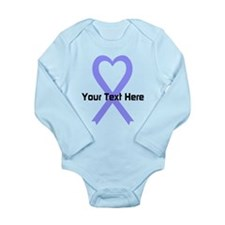 Personalized Periwinkl Long Sleeve Infant Bodysuit