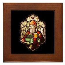 Stained Patrick Framed Tile