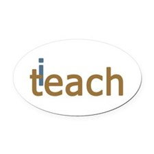 iTeach Oval Car Magnet