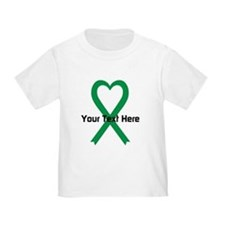 Personalized Green Ribbon Heart T