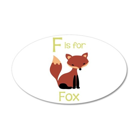 F Is For Fox Wall Decal