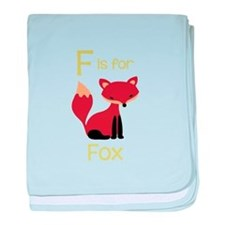 F Is For Fox baby blanket