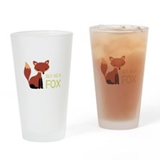Sly As A Fox Drinking Glass