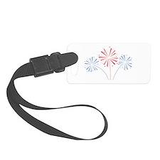 July Fourth Fireworks Luggage Tag