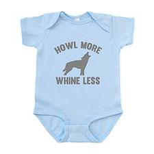 Howl More Whine Less Infant Bodysuit