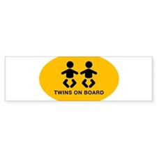 Twins-on board-oval_BB Bumper Bumper Sticker