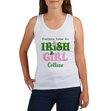 Personalized Loves An Irish Girl Women's Tank Top