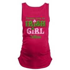 Personalized Loves An Irish Gir Maternity Tank Top