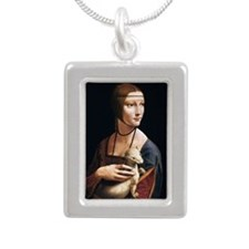Lady with an Ermine Silver Portrait Necklace