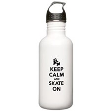 Keep calm and Skate on Water Bottle