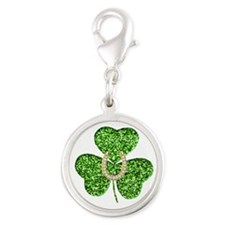 Glitter Shamrock And Horseshoe Charms
