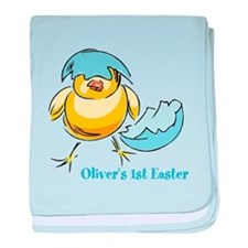 Personalized Hatching Chick baby blanket