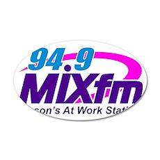 94.9 MIXfm Logo 35x21 Oval Wall Decal