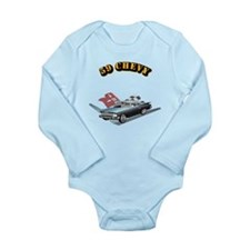 59 Chevy with Text Long Sleeve Infant Bodysuit