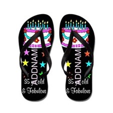 Sizzling 35th Flip Flops