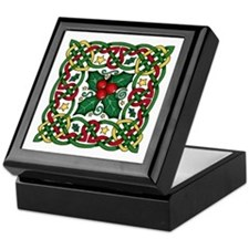Celtic Garland & Holly Keepsake Box
