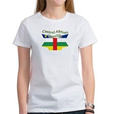 Central Africa flag ribbon Tee